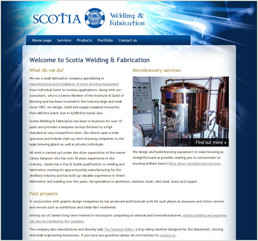 Scotia Welding website design