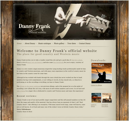 Dany Frank website design