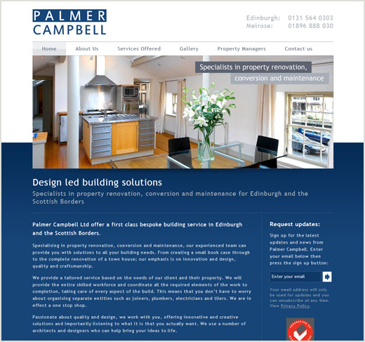 Palmer Campbell website design