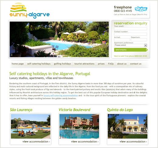Sunny Algarve website design