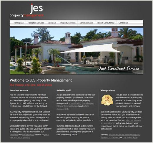 Nunudes Co Uk Jes: JES Property Management Website Design