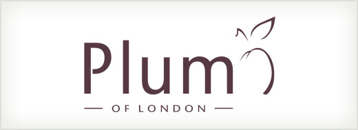 Plum of London logo design