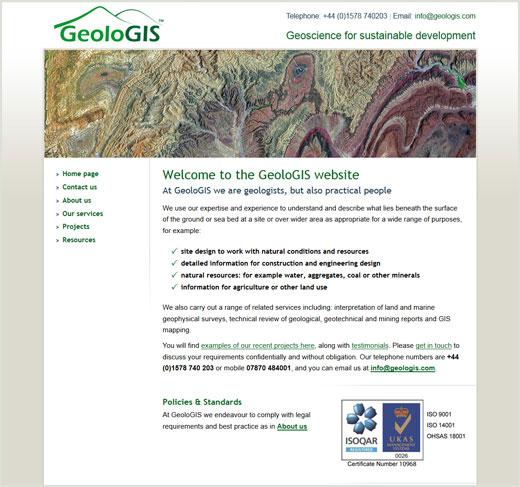 GeoloGIS website design