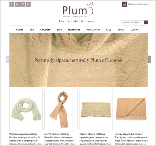 Plum of London website design