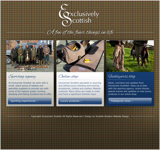 Exclusively Scottish website design