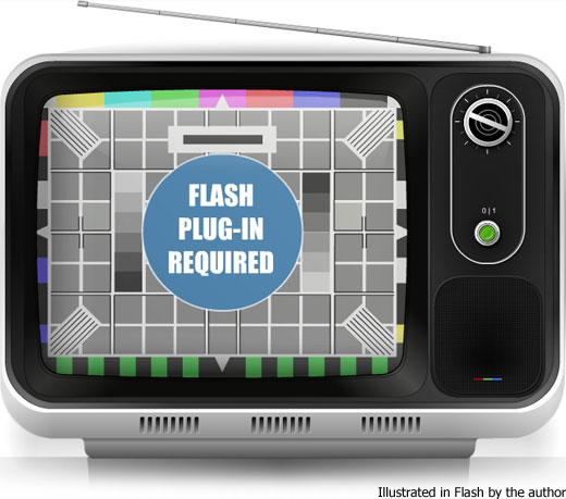 Retro TV illustrated by the author using Adobe Flash