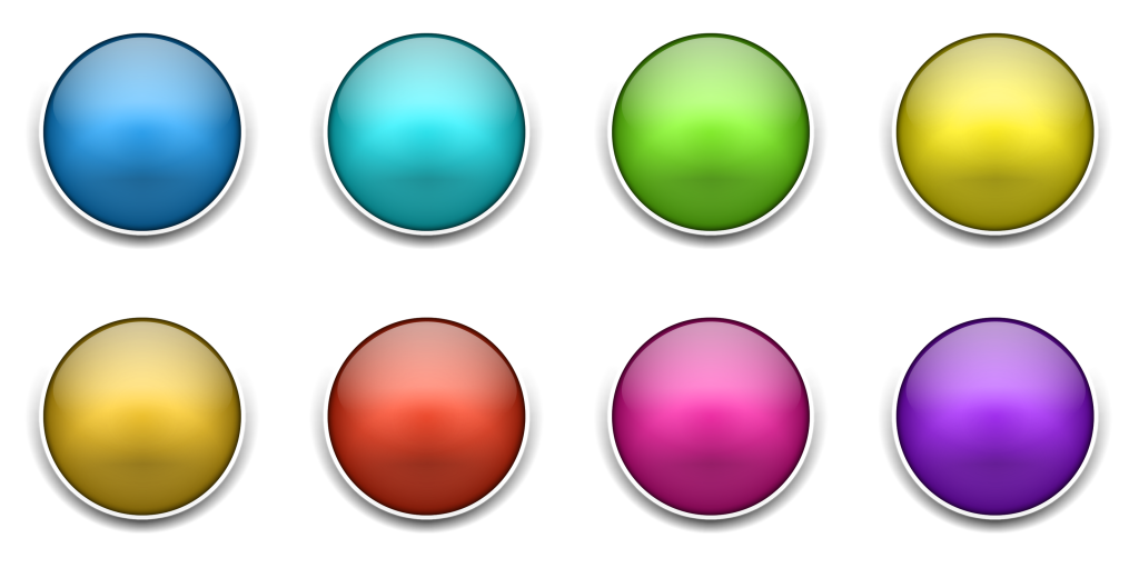Download this free blank 3D button icon set (multicoloured)