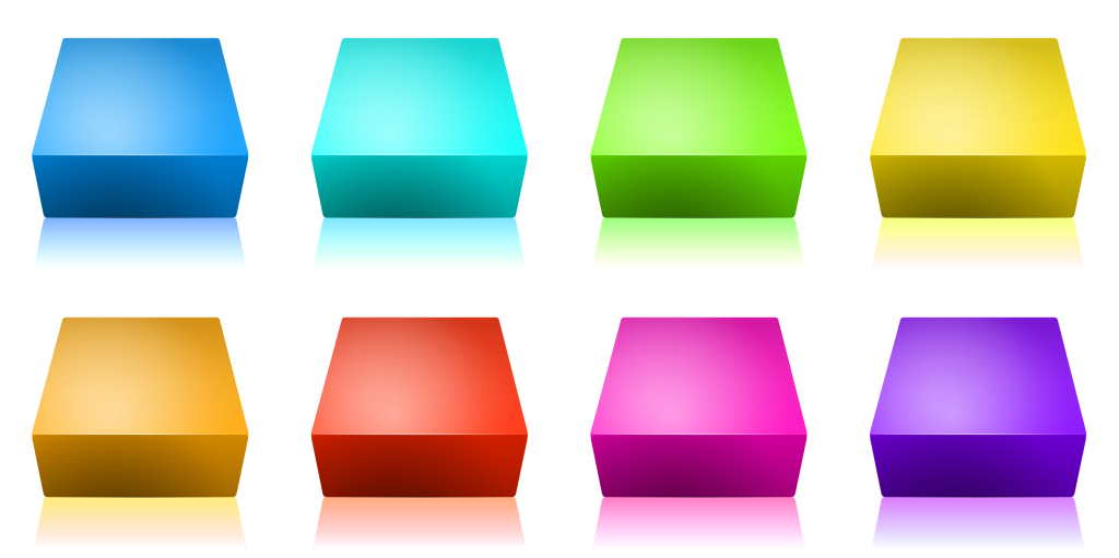 Download this free blank 3D square iconset (multicoloured)