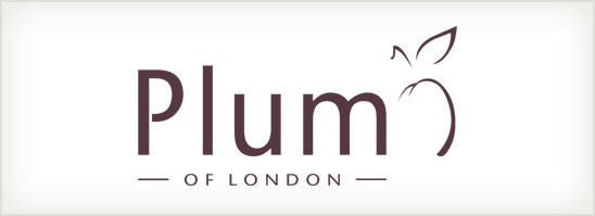find out more about the Plum of London logo design