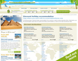 find out more about the AccommodationGenie.com website design