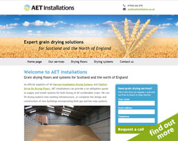 find out more about the AET Installations website design