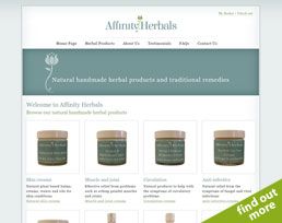 find out more about the Affinity Herbals website design