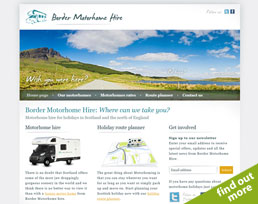 find out more about the Border Motorhome Hire website design