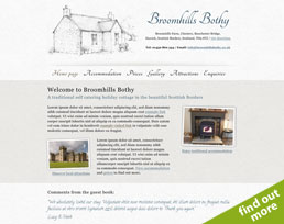 find out more about the Broomhills Bothy website design