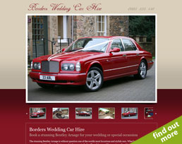 find out more about the Borders Wedding Car Hire website design