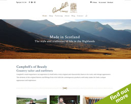 find out more about the Campbells of Beauly website design