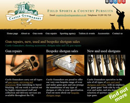find out more about the Castle Gunmakers website design