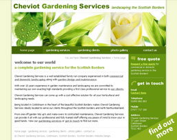 find out more about the Cheviot Gardening Services website design