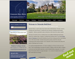 find out more about the Chirnside Hall Hotel website design