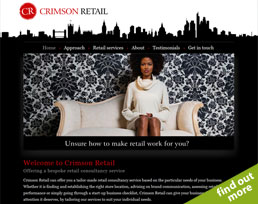 find out more about the Crimson Retail website design