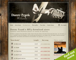 find out more about the Danny Rough website design
