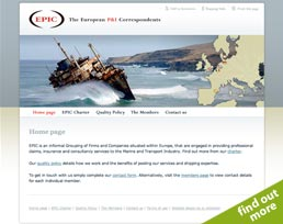 find out more about the European P&I Correspondents website design