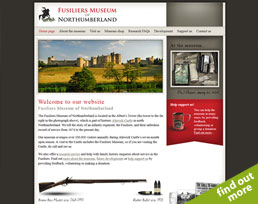 find out more about the Fusilers Museum of Northumberland website design