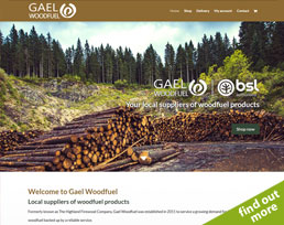find out more about the Gael Woodfuel website design