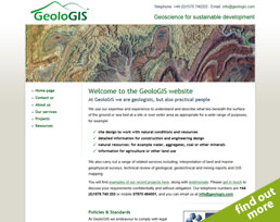 find out more about the GeoloGIS website design