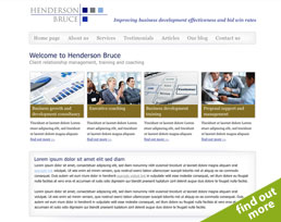 find out more about the Henderson Bruce website design