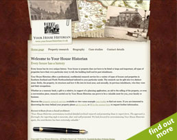 find out more about the Your House Historian website design