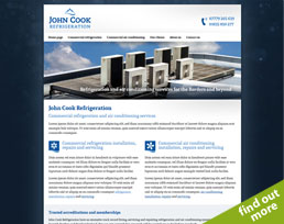 find out more about the John Cook Refrigeration website design