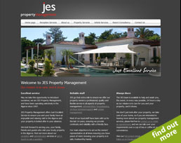 find out more about the JES Property Management website design