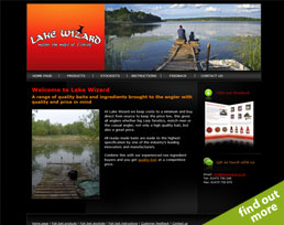 find out more about the Lake Wizard website design