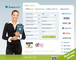find out more about the Loan Saver website design