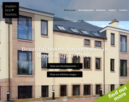 find out more about the Maden Eco Homes website design