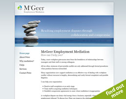 find out more about the McGeer Employment Mediation website design