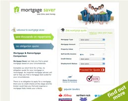find out more about the Mortgage Saver website design
