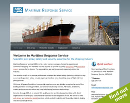 find out more about the Maritime Response Service website design