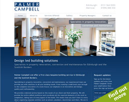 find out more about the Palmer Campbell website design