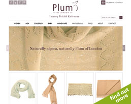 find out more about the Plum of London website design