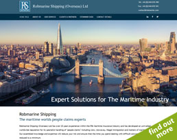 find out more about the Robmarine website design