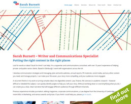 find out more about the Sarah Burnett website design