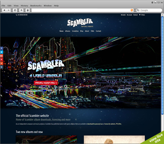 Scambler music, downloads and commercial licensing