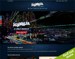 find out more about the Scambler website design