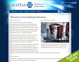 find out more about the Scotia Welding & Fabrication website design