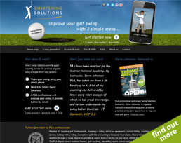 find out more about the Smart Swing Solutions website design