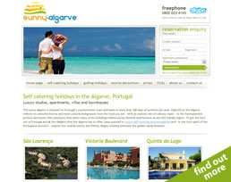 find out more about the Sunny Algarve website design