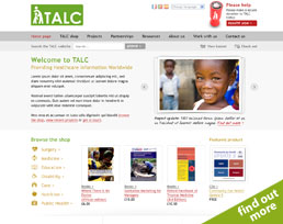 find out more about the TALC website design