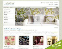 find out more about the Tallantyre Interior Design website design